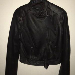 Marciano black genuine leather jacket